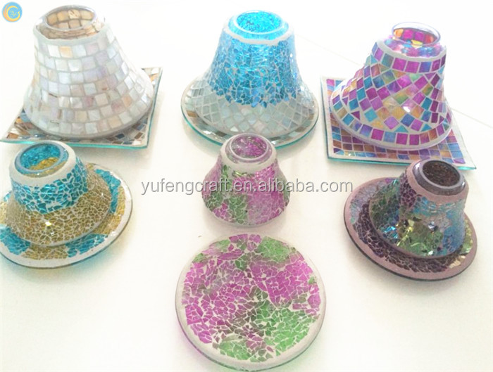 small mosaic shade for small candle jar