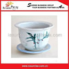 Bowl Shape Flower Pot Ceramic Pot For Home Decor