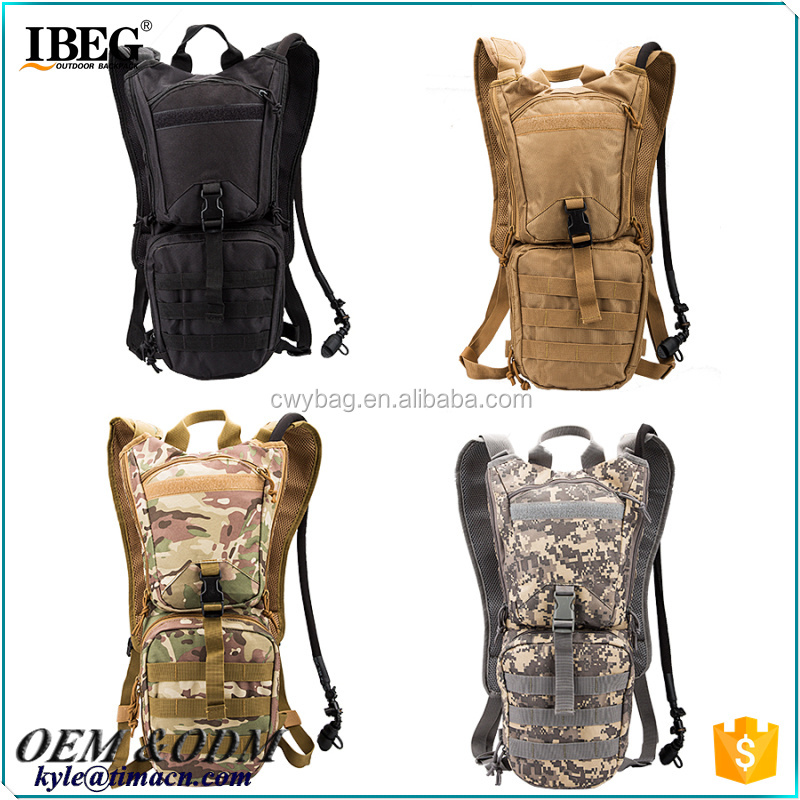 OEM miiltary Travel hydration backpack with 3L water bladder