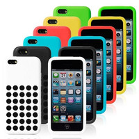 Soft Silicon Case With Hollow Dots For Iphone 5 5c Free Shipping