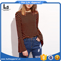 guangdong women clothes custom wholesale contrast bell sleeve t shirt full sleeve