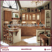 PVC Coated Integrated Kitchen Cabinet kitchen furniture Guangzhou(EKJC141415)