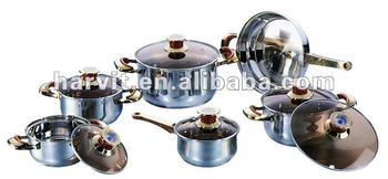 Red bakelite Stainless Steel Sauce Pans