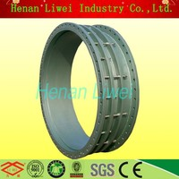 rubber lined pipe sleeve coupling joint