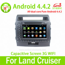 Android 4.4 navigation system for toyota land cruiser 200 dvd gps multimedia player car radio tv dvd
