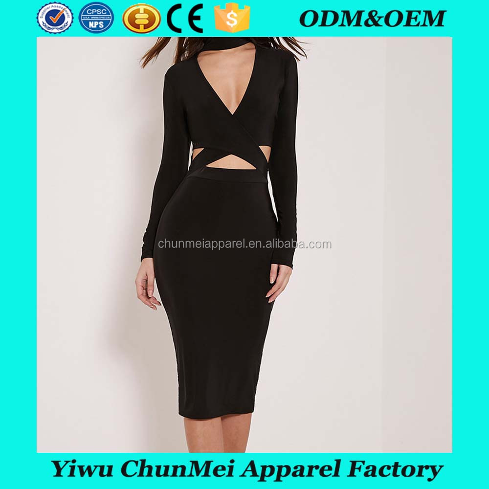 Hot Sale Sexy Fashion Dress Cross Front Sexy Young Girl Dress