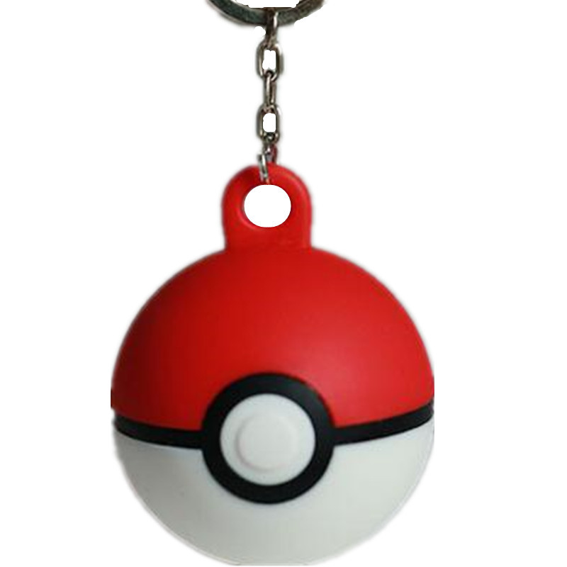 2016 Hot sale in stock pokemon PVC silicone keychain