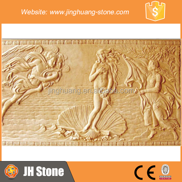 JH Stone Relief Decoration Sculpture Relief Nude Sculpture for Wall Decoration
