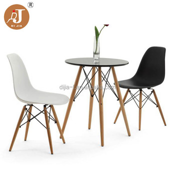 Modern European Style White Plastic Dining Room Set Furniture