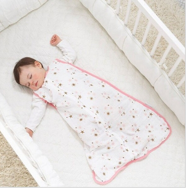 100% Muslin Cotton Aden Anais Baby Thin Sleeping Bag For Summer Baby