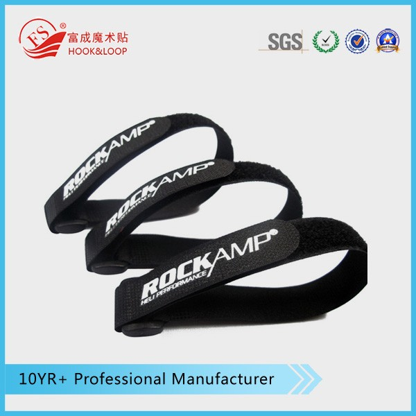 Black Anti-slip adjustable buckle strap Hook loop Battery Straps