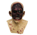 LATEX EVIL ZOMBIE NO FACE HEAD MASK WITH NECK