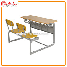 Outstar cheap practical school student double desk and chair
