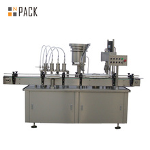 Gel/glue filling plugging capping machine, labeling machine