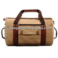 Fashion brand names leather travel bag for travel and promotiom,good quality fast delivery