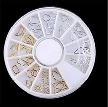 Hot Selling simple design nail beads decoration in wheel with different size