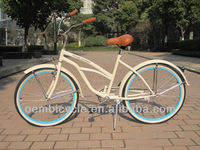 26 inch with white frame and blue rims hot sale australian standard beach cruiser bikes from china