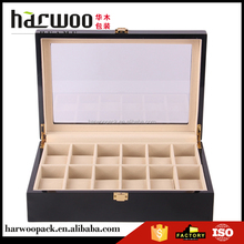 Factory Sale custom design 12 slots wooden watch box for sale