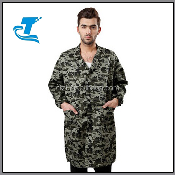 2017 Hottest Long Sleeve Anti -fouling Camouflage Workwear