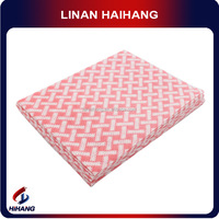 China supply 10mesh spunlace nonwoven network pet cleaning cloth