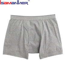 Free sample 100 polyester boxer shorts custom underwear wearing sexy boys