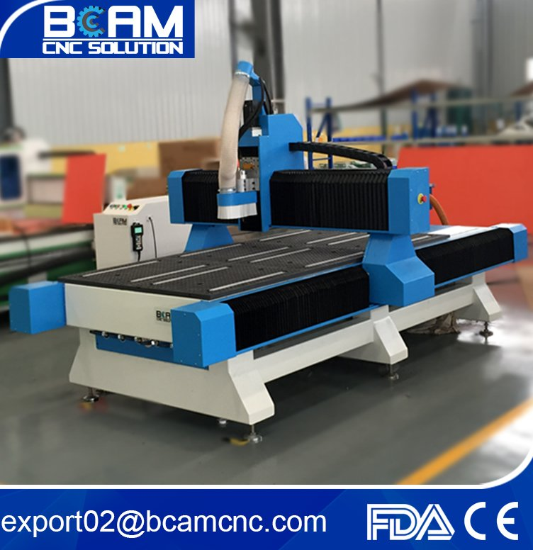 Factory price wood cnc router / lathe machine with red safety sensors