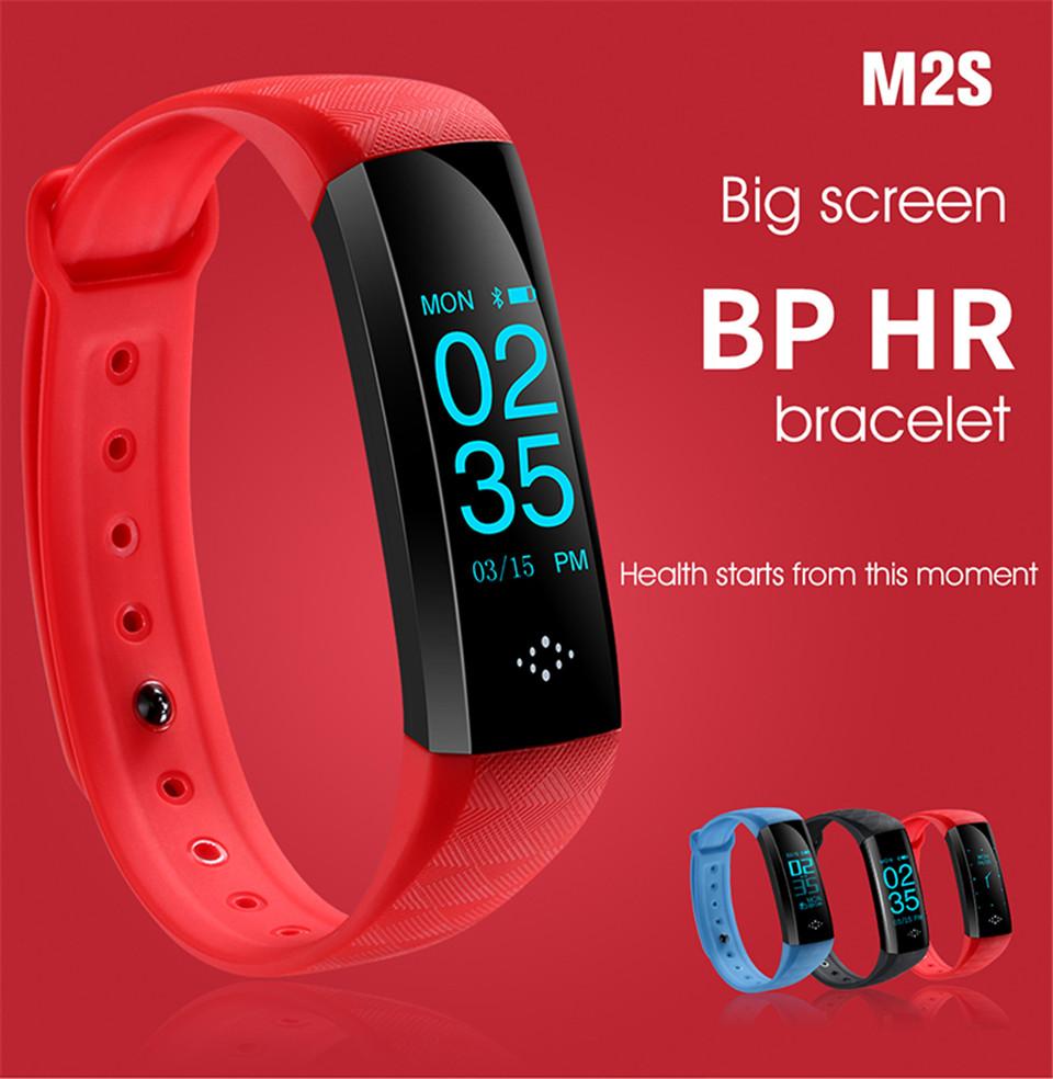 M2 Mise À Niveau M2S de fréquence cardiaque gps de traqueur de forme physique de moniteur de tension artérielle horloge