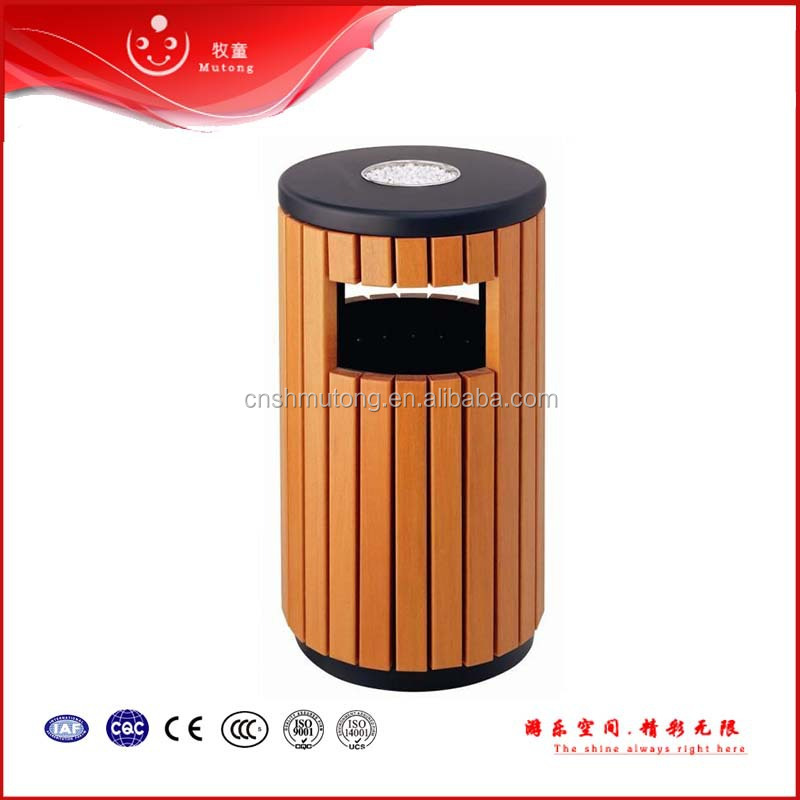 outdoor garden wooden outdoor garbage bin