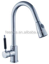 Brass chrome pull out kitchen faucet with spray head FNF82013E