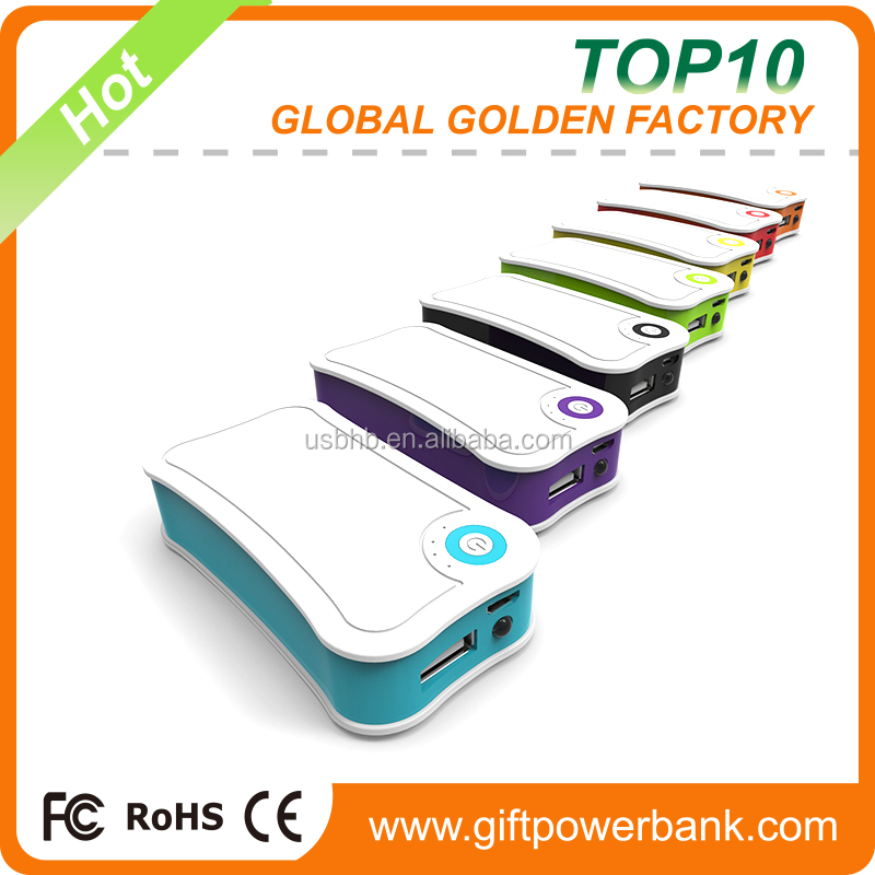 New Promotional Gift Fast Charging Protable power banks 10000mAh from shenzhen factory