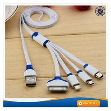 AWD203 High speed multifunction usb mobile charger cable 4 head multi charging usb cable