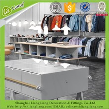 made in China New Arrival garment/clothes store shop shelves design