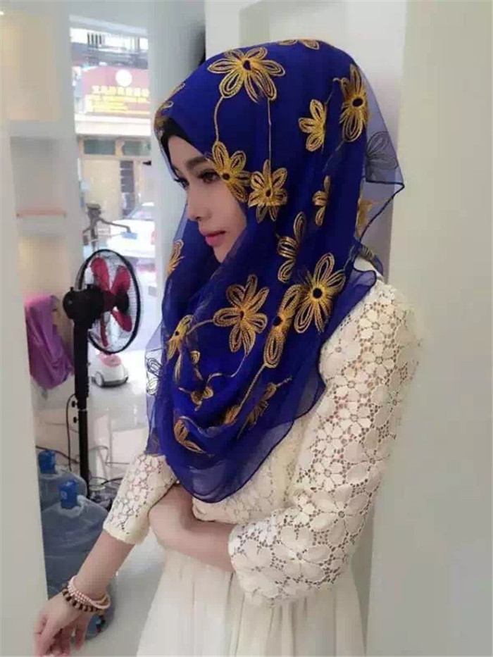 Factory Wholesale High Quality Chiffon Hijabs Scarf Fancy Arabic Muslim Tudung Borong
