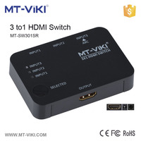MT-SW301SR mini hdmi 301 switch 1080p 1 input 3 output 4kx2k hdmi switch