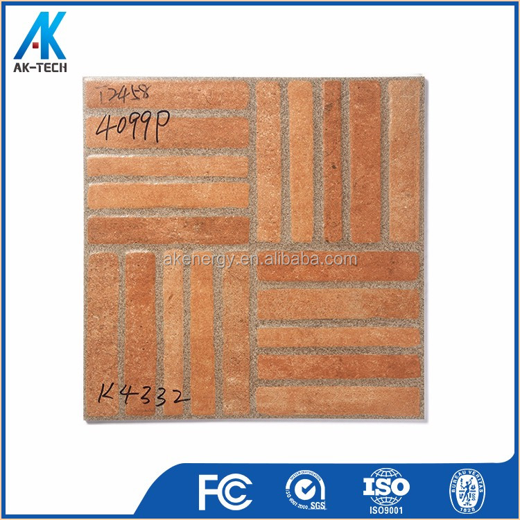 ceramic terracotta glaze floor tile , large terrace floor tile china