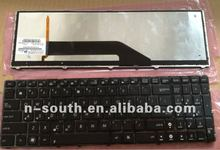 Notebook keyboard Laptop keyboard For ASUS K52J with backlight