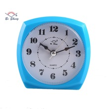 (3021)Cheap plastic promotional gift table alarm clock with light