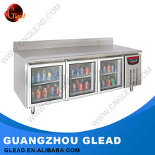 Commercial Glass Door refrigerated display food service counters