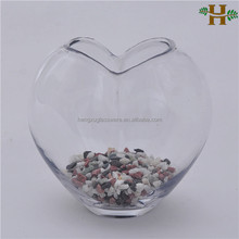 wholesale hand blown heart shaped clear glass vases