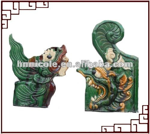 Chinese dragon decorative tiles roofing for roof ridge decoration