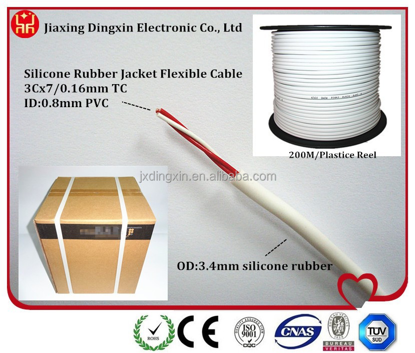 Three Core Electric Wire With Silicone Rubber Jacket form China Manufacturer/High Flexible Wires