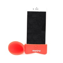 Portable No Extra Power Needed mobile silicone speaker for iPhone 6