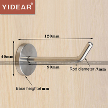 Yidear 120x40x7mm 201 Stainless Steel Wall Mounting Hooks Clothing Store Wall Coat Hanger