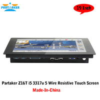 All In One TV PC Computer With 19 Inch 2MM Made-In-China 5 Wire Resistive Touch Screen Intel Core I5 3317u Partaker Elite Z16T
