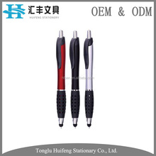 promotion gift gel ink plastic ball pen for touch screen smartphone