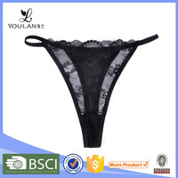 Enthusiastic Kind Sexy Lace G-String Transparent Panties Of Super Quality Fitness