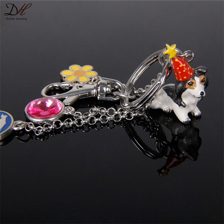 Daihe Dog shape souvenir metal personalized key chains