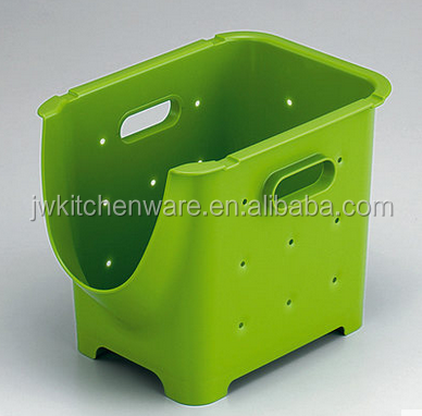 customize injection plastic stackable crate in Ningbo Jiewei Kitchenware