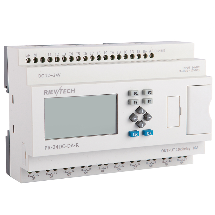 Factory price programmable logic <strong>controller</strong> for automation control PLC programmable relay PR-24DC-DA-R
