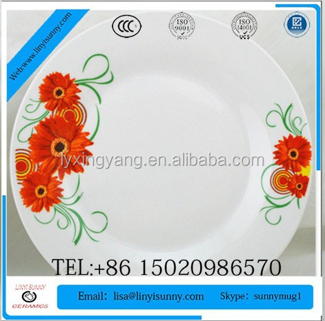 custom printed ceramic dinner plate ceramic dishes plate printing plate thali